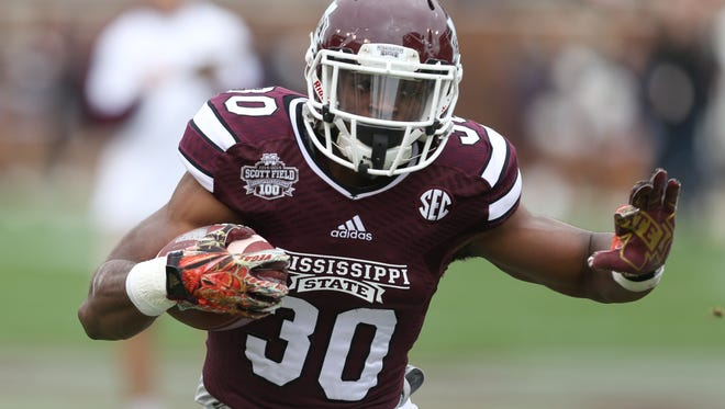Mississippi State running back Nick Gibson prepares for his opportunity on the field this season.