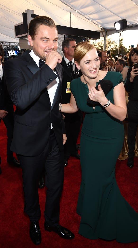 LOS ANGELES, CA - JANUARY 30:  Actors Leonardo DiCaprio
