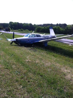 The scene of the emergency landing that took place at 10 a.m. Sunday on Park Avenue near Georgetown.
