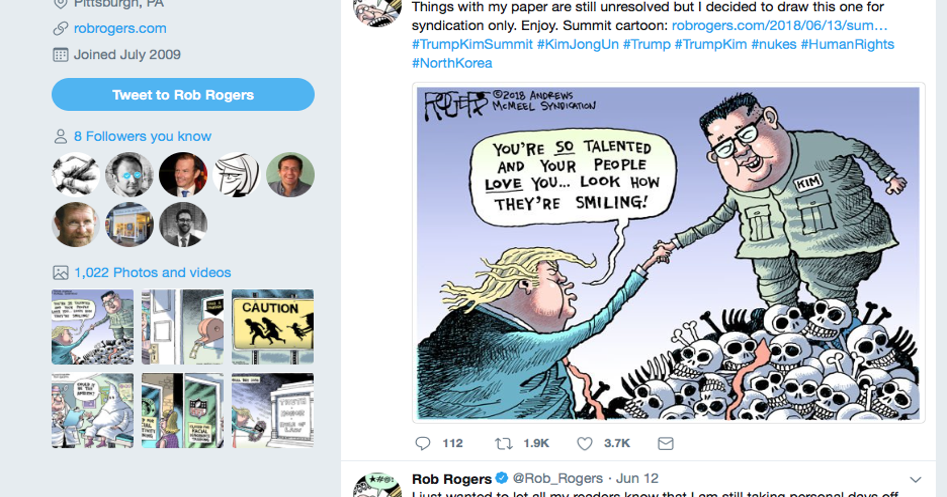 Marlette Cartoonist Crackdoen Rogers Pittsburgh
