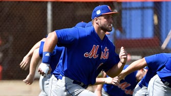 Tim Tebow in Mets camp.