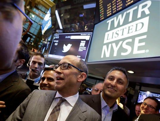 AP APTOPIX Wall Street Twitter IPO
