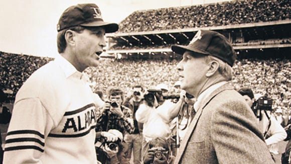 Pat Dye won his last SEC title in 1989 as the Tigers beat undefeated Alabama under Bill Curry, 30-20, in the first Iron Bowl ever played at Auburn.