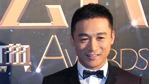 """Actor Gao Hu poses on the red carpet during the award ceremony of the Celebrity Citizens in Beijing, China. Gao, 40, who had a small part as a soldier in Zhang Yimou's 2011 movie """"The Flowers of War,"""" has become the latest Chinese celebrity to face drug charges in a wave of detentions that an official said Wednesday is one of China's sternest crackdowns on illegal drug use in two decades."""