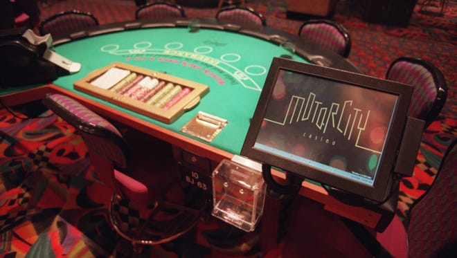File photo of a gaming table at the Motor City casino.