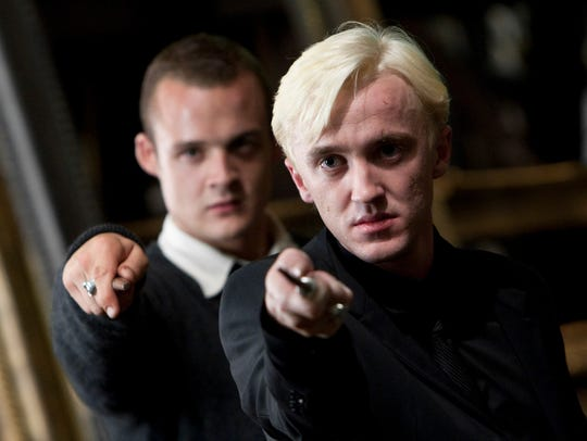 Tom Felton shows his wand stuff as Draco Malfoy in