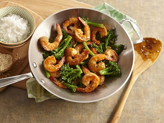 Shrimp and Broccolini Stir-Fry