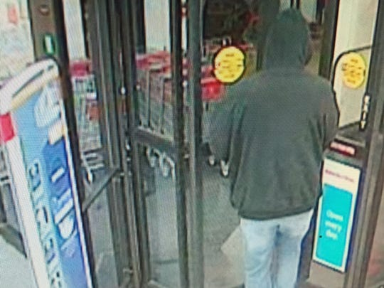 Police are looking for a man who robbed a CVS store in the Holly Ravine Shopping Center.