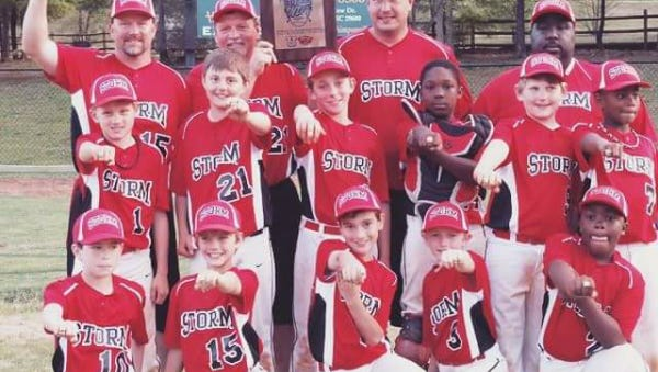 The Asheville Storm 9U baseball team.