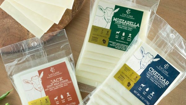 Single serving cheeses are now available in mozzarella, cheddar and Jack varieties at LaClare Family Creamery.