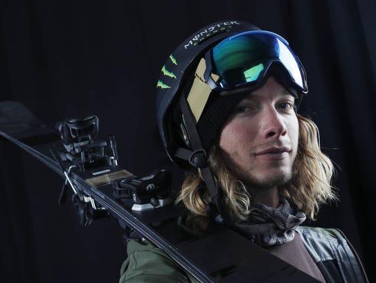 Team USA freestyle skiing hopeful David Wise during