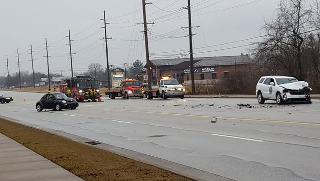 A Center Grove High School junior died after her Volkswagen Beetle collided with a Johnson County Animal Control SUV in Greenwood on Friday, Feb. 16, 2018.