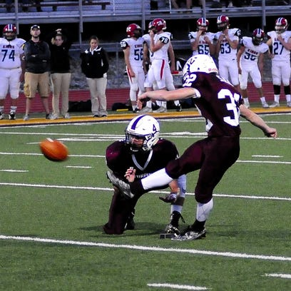 Turpin kicker Harry Sand adds a field goal for the