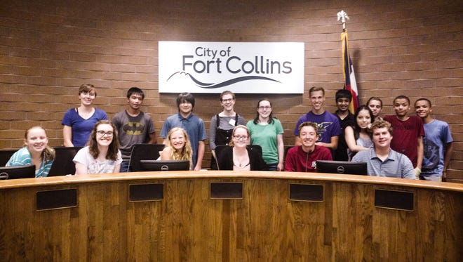 Fort Collins' 2017 Summer in the City class got to sit in city council seats for a day. Students have the chance to learn about the inner workings of local government.