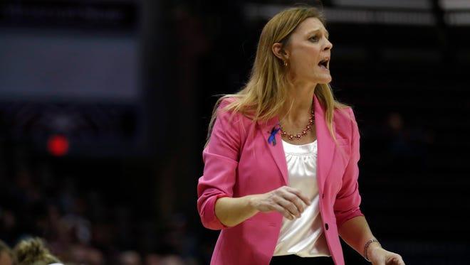 Kellie Harper, head coach of the Missouri State Lady Bears