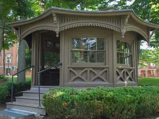 The Mark Twain Study is located on the Elmira College campus and is a stopping point along the Trolley into Twain Country tour.