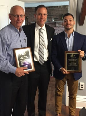 From left:Bruce Black, David Carcieri, CEO of Somerset County YMCA and current AYP Chapter 17 president,and Justin Grand.