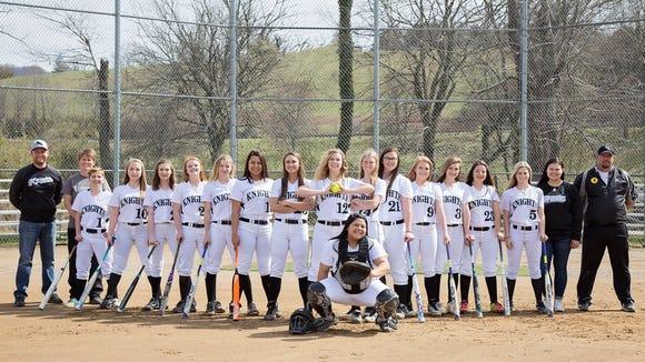 The Robbinsville softball team.