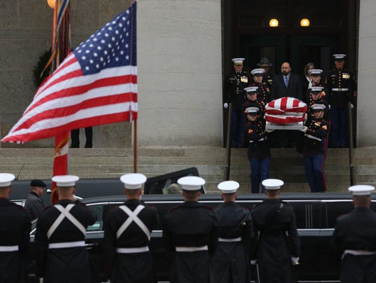 John glenn casket procession funeral