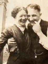 Sophie and William Papendieck share a light moment