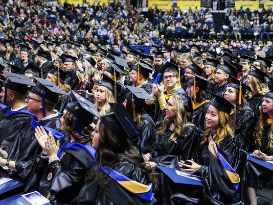 Angelo State University graduation Saturday, Dec. 16, 2017