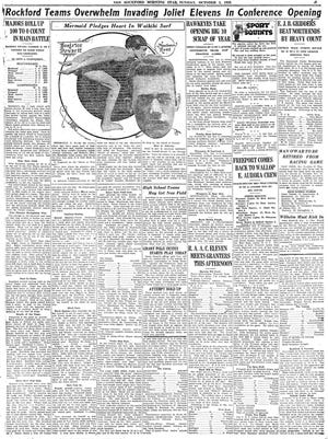 This is the Sunday, Oct. 3, 1920, sports page from the Rockford Morning Star.