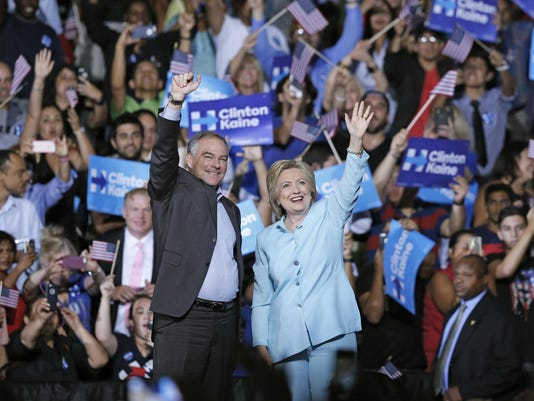 Kaine debuts as Clinton's running mate in Miami rally