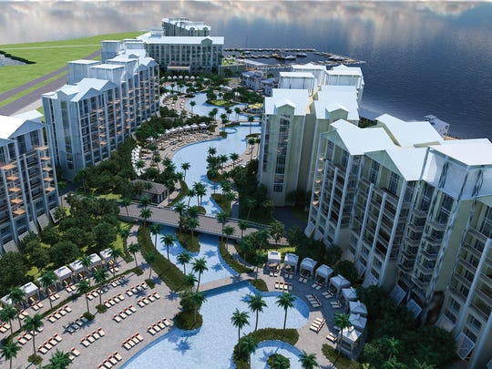 Allegiant Travel Co. plans to build a condo-hotel along Charlotte Harbor that will feature a 1,000-foot-long swimming pool, shops and restaurants and a boardwalk along the water. It will be Allegiant's first Sunseeker Resort, and is about seven miles from Punta Gorda Airport, where Allegiant is the sole carrier.