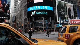 he Nasdaq composite index is viewed in Times Square on April 23, 2015 in New York City.