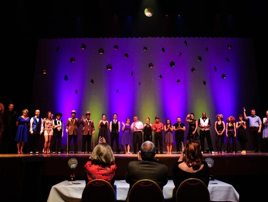 Contestants line up on the stage during the Dancing With The Stars competition at the Mansfield Theater. The new Mansfield Center for the Performing Arts Foundation hopes providing financial assistance will help groups put on more events at the Civic Center.