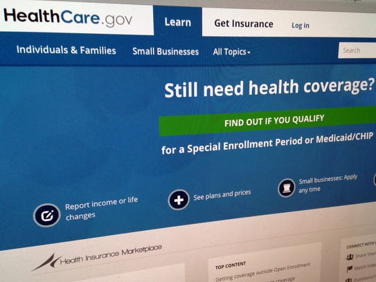 The HealthCare,gov website is shown in September.
