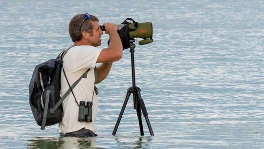 Adam DiNuovo, Audubon shorebird program coordinator, is one of the featured speakers. Photo by Jean Hall.