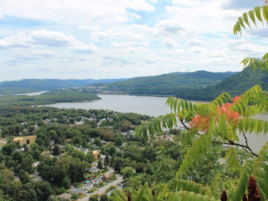 A view of Cold Spring from above, on top of Bull Hill.