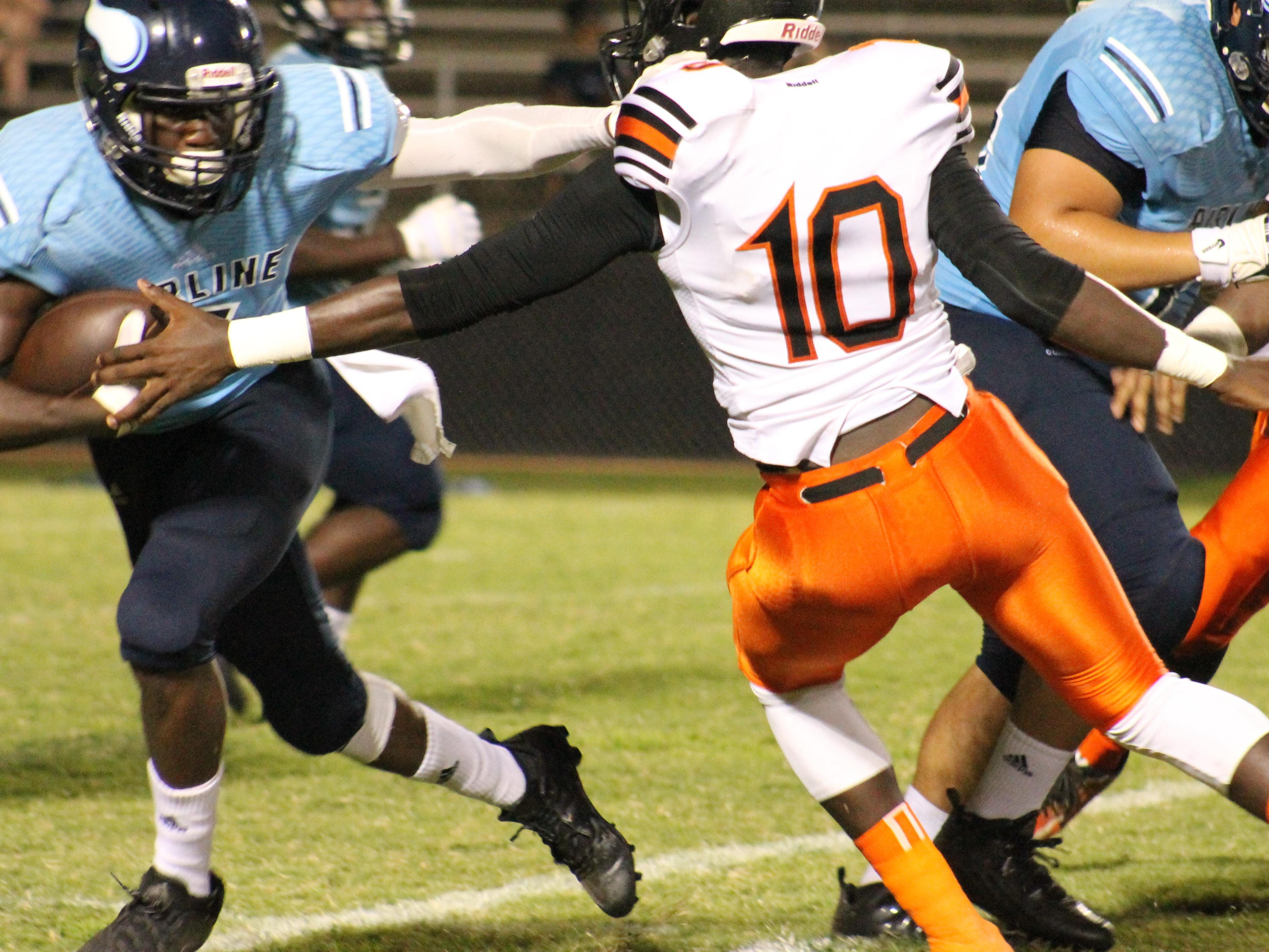 Action from Friday's game between Airline and Union Parish.