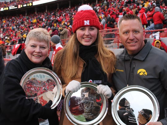 Nurse Jane McCurdy of Ankeny, left, and Iowa State