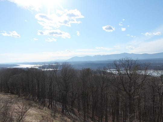 The view from Olana includes the Hudson River with the Catkills beyond.