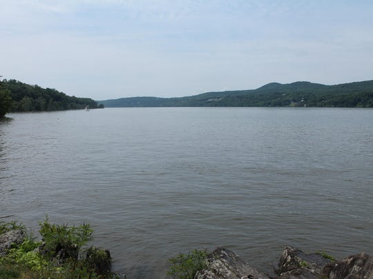 The Hudson River seen from Bard Rock.