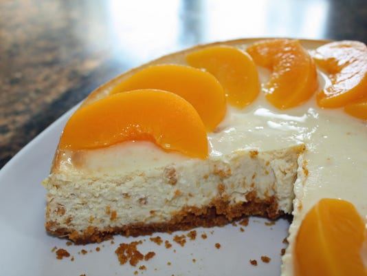 peachy king sliced cheesecake