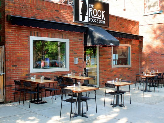 When the weather is nice, the Rook offers outdoor seating for diners.