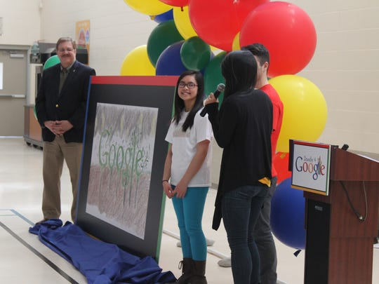 Artist Penny Ly joins Vermont Secretary of State Jim Condos and Google's Mikel Giordano and Mimi Do to discuss her winning Doogle 4 Google drawing.