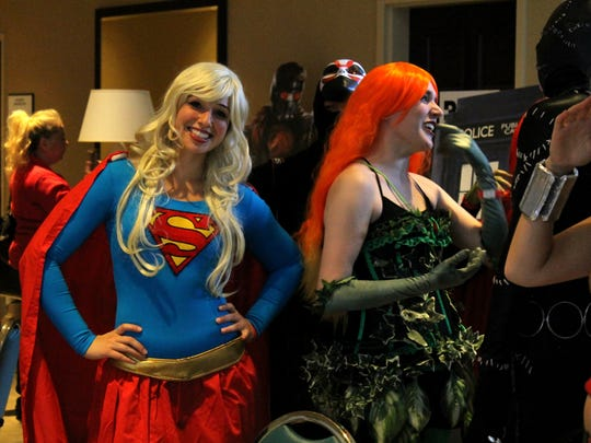 Molly Virello of Southington, Conn., channels her inner superhero at Vermont Comic Con on Saturday in South Burlington.