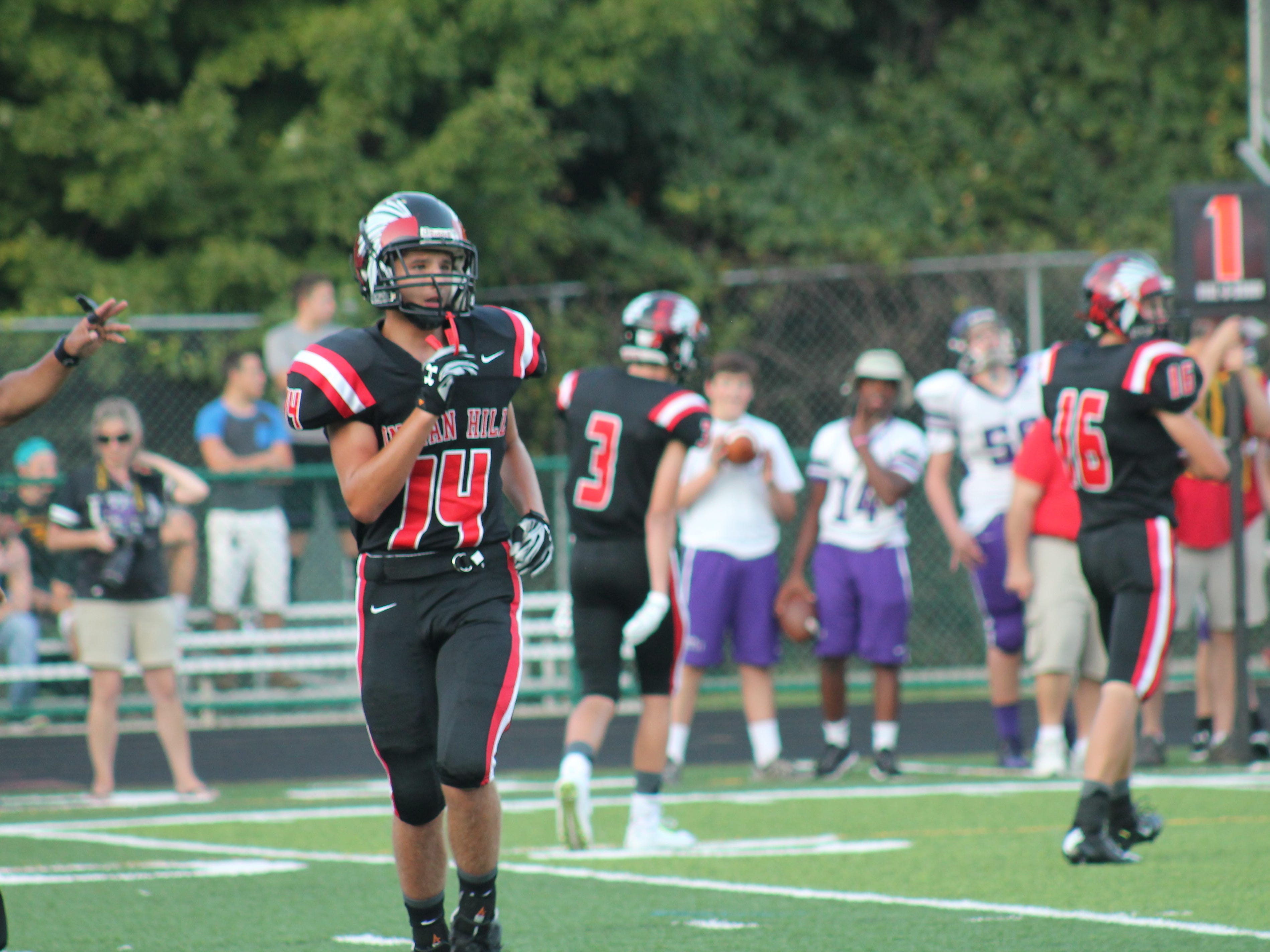Marco Fiore is one of Indian Hill's freshman starters as he mans the safety position for the Braves.