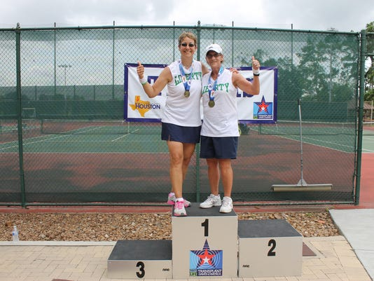 Michele Dabal and Bonnie Farbstein - Gold Medalist - Womens Tennis Doubles.JPG