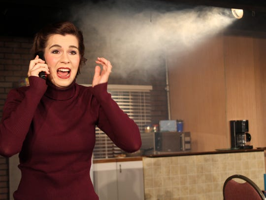 """Katie Pavao stars in the Palm Desert Theatreworks production of """"Wait Until Dark,"""" running through Saturday at the Arthur Newman Theatre in the Joslyn Center in Palm Desert"""
