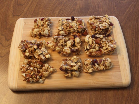 Cranberry nut granola bars require just six ingredients to make.