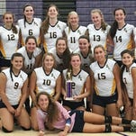 The South Lyon girls volleyball team went 5-0-1 on the day to capture the Ann Arbor Pioneer tournamenty.