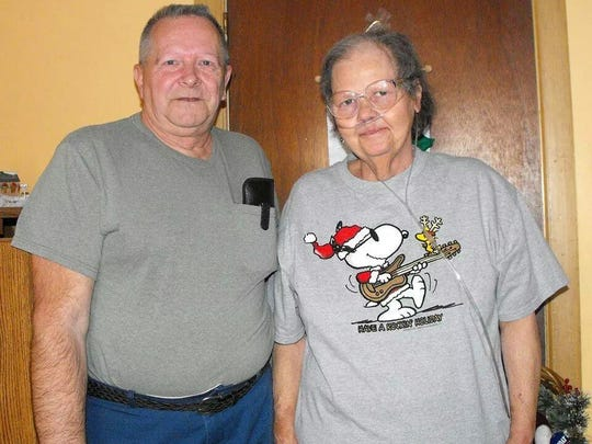 Clifford Van Haywald with his wife, Lee Haywald, who died in 2009.