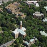 Aerial shot of the Vanderbilt University campus.