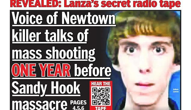 """""""The Daily News"""" says it obtained a tape of a call by Adam Lanza to a college radio station one year before he opened fire Dec. 14,  2012, at the Sandy Hook Elementary school in Newtown, Conn., killing 26 people."""
