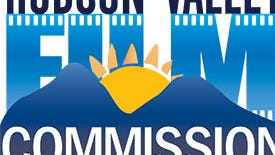 The logo for the Woodstock-based Hudson Valley Film Commission.